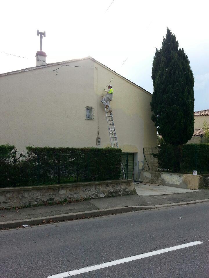 peinture de facade de villa